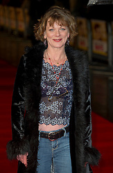 Samantha Bond arrives for the Run For Your Wife - UK film premiere Odeon -Leicester Sq- London Brit comedy about a happily married man - with two wives, Tuesday  February 5, 2013. Photo: Andrew Parsons / i-Images