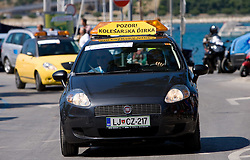 Warning car at 1st stage of Tour de Slovenie 2009 from Koper (SLO) to Villach (AUT),  229 km, on June 18 2009, in Koper, Slovenia. (Photo by Vid Ponikvar / Sportida)