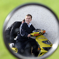 Tayside Police Western Division Road Policing Unit..18.10.07<br /> Mini-motorbike project at Perth Grammar School.  Pupil Franco Sinclair (13) enjoying the project.<br /> Picture by Graeme Hart.<br /> Copyright Perthshire Picture Agency<br /> Tel: 01738 623350  Mobile: 07990 594431