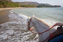 Horseback riding on the beach, Mal Pais, Costa Rica