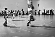 """Work/Travail/Arbeid"" an exhibition of dance, choreographed by Belgian artist Anne Teresa de Keersmaeker at the Museum of Modern Art."