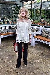 Basia Briggs at The Ivy Chelsea Garden's Annual Summer Garden Party, The Ivy Chelsea Garden, 197 King's Road, London England. 9 May 2017.<br /> Photo by Dominic O'Neill/SilverHub 0203 174 1069 sales@silverhubmedia.com