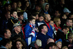 Fans during the FIFA World Cup 2014 Group E qualification match between Slovenia and Norway on October 11, 2013 in Stadium Ljudski vrt, Maribor, Slovenia. (Photo by Urban Urbanc / Sportida)