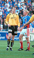 Aaron Wilbraham, Moss. Vålerenga - Moss 2-2. Tippeligaen 2000. 6. august 2000. (Foto: Peter Tubaas/Fortuna Media)