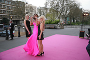 charlotte Dutton, Isabel Kristensen and Sarah Davis, The Blush Ball, Natural History Museum, London<br />Breast Cancer Haven trust charity evening for the construction of a third Haven in North England. ONE TIME USE ONLY - DO NOT ARCHIVE  © Copyright Photograph by Dafydd Jones 66 Stockwell Park Rd. London SW9 0DA Tel 020 7733 0108 www.dafjones.com