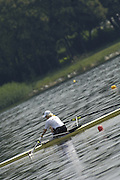 Poznan, POLAND.  2006, FISA, Rowing, World Cup,  LAT W1X, Agrita  MIHEJEVA, the start area,  'Malta Regatta course;  Poznan POLAND, Fri. 16.06.2006. © Peter Spurrier   ....[Mandatory Credit Peter Spurrier/ Intersport Images] Rowing Course:Malta Rowing Course, Poznan, POLAND