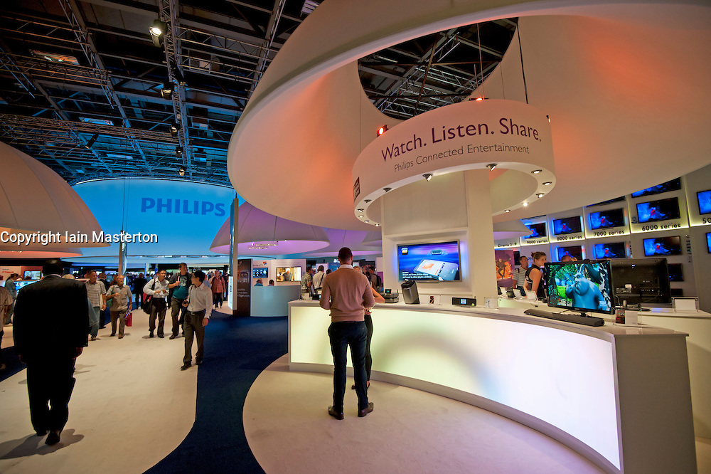 Phillips stand at IFA consumer electronics trade fair in Berlin Germany 2011