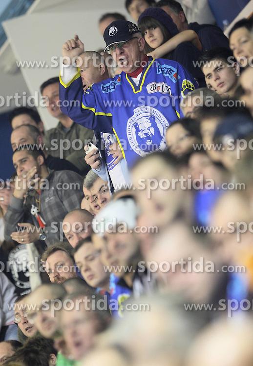 28.02.2010, Dom sportova, Zagreb, CRO, EBEL, KHL Medvescak Zagreb vs Graz 99ers, im Bild Fans von Zagreb. EXPA Pictures © 2010, PhotoCredit: EXPA/ PIXSELL / SPORTIDA PHOTO AGENCY