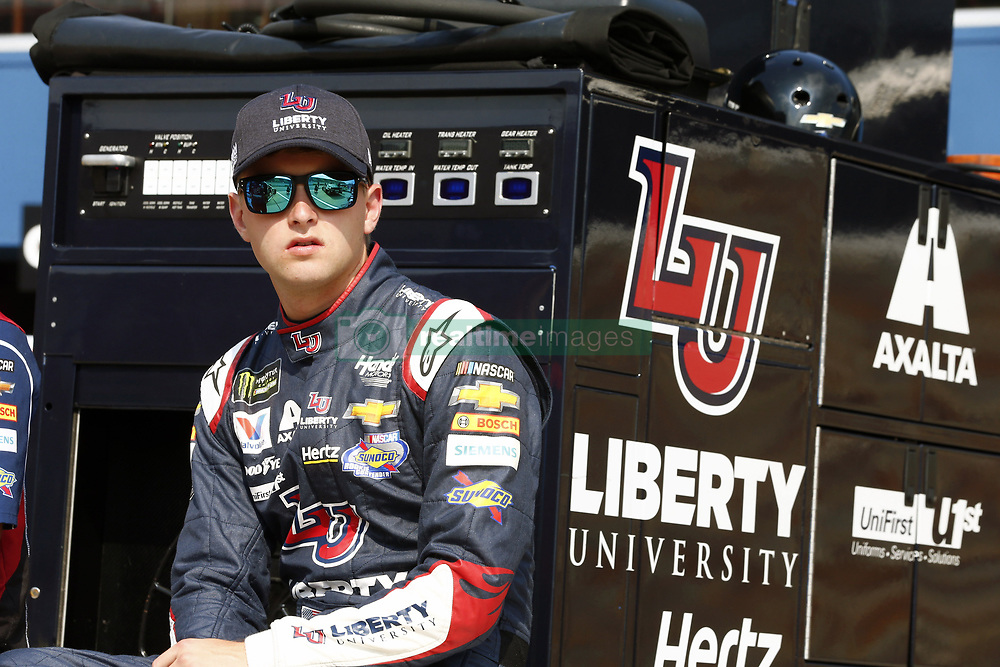 August 10, 2018 - Brooklyn, Michigan, United States of America - William Byron (24) hangs out on pit road prior to qualifying for the Consumers Energy 400 at Michigan International Speedway in Brooklyn, Michigan. (Credit Image: © Justin R. Noe Asp Inc/ASP via ZUMA Wire)