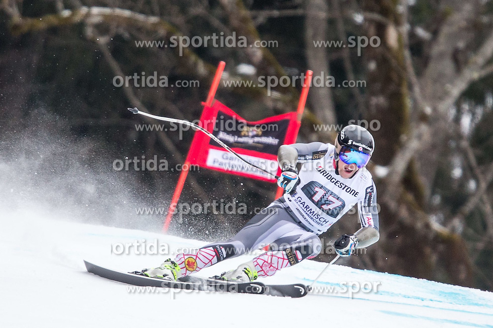 27.02.2015, Kandahar, Garmisch Partenkirchen, GER, FIS Weltcup Ski Alpin, Abfahrt, Herren, 2. Training, im Bild Benjamin Thomsen (CAN) // Benjamin Thomsen of Canada in action during the 2nd trainings run for the men's Downhill of the FIS Ski Alpine World Cup at the Kandahar course, Garmisch Partenkirchen, Germany on 2015/27/02. EXPA Pictures © 2015, PhotoCredit: EXPA/ Johann Groder