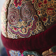 Details of a hilltribe hat at the Nam Hai luxury resort in Danang, Vietnam.