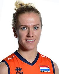 98-12-2015 NED: Nederlands Volleybalteam vrouwen, Arnhem<br /> Nederlands volleybalteam vrouwen op de foto met de nieuwe sponsorshirt Ilionx / Maret Balkestein-Grothues #6