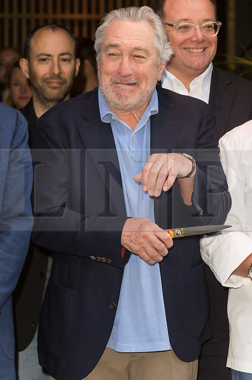 © Licensed to London News Pictures. 15/05/2018. London, UK. Actor ROBERT DE NERO takes part in the ribbon cutting ceremony to launch Nobo London Hotel London in Shoreditch. Photo credit: Ray Tang/LNP