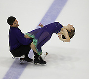 06 Aug 2009: Katie Wyble of CIB of Western PA and Justin Morrow of All Year Figure Skating Club skate in the Senior Free Dance at the 2009 Lake Placid Ice Dance Championships in Lake Placid, N.Y.    © Todd Bissonette