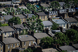 © Licensed to London News Pictures. 14/06/2017. London, UK. A view over the rooftops of Notting Hill in west London . Photo credit: Ben Cawthra/LNP