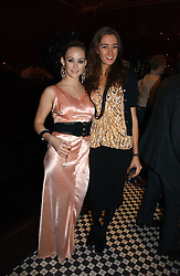 Left to right, MISS ELLIE SHEPHERD and SOPHIA ROGGE at The Christmas Cracker - an evening i aid of the Starlight Children's Charity held at Frankies, Knightsbridge on 13th December 2006.<br /><br />NON EXCLUSIVE - WORLD RIGHTS