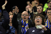 Wimbledon fans singing during the EFL Sky Bet League 1 match between Gillingham and AFC Wimbledon at the MEMS Priestfield Stadium, Gillingham, England on 21 February 2017.
