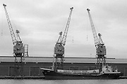 The Danish cargo ship Libra, chartered by the Danish Seamen's Union, docked at Hull carrying foodstuffs and nearly-new children's clothing for striking miners' families. The 200-tonne delivery was organised by the World Federation of Trade Unions, and paid for by workplace collections in the Soviet Union, Czechoslovakia, the German Democratic Republic, Bulgaria, Denmark and Sweden. A team of 30 TGWU Hull dockers unloaded the ship in just under four hours and gave their services free of charge. 13 October 1984