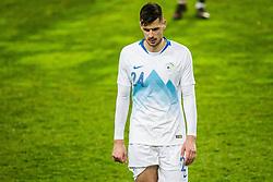 Nemanja Mitrovic of Slovenia during friendly football match between National teams of Slovenia and Belarus, on March 27, 2018 in SRC Stozice, Ljubljana, Slovenia. Photo by Vid Ponikvar / Sportida