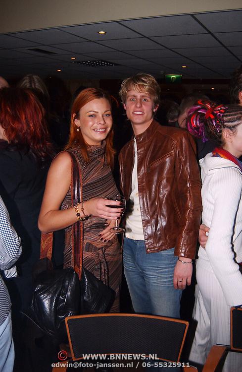 Harpengala 2003, Joell de Tombe en vriendin