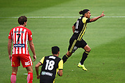 Phoenix player David Williams celebrates his goal during their Hyundai A League match. Wellington Phoenix v Melbourne City FC. Westpac Stadium, Wellington, New Zealand. Saturday 26 January 2019. ©Copyright Photo: Chris Symes / www.photosport.nz
