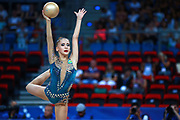 Sabina Tashkenbaeva from Uzbekistan was born in Tashkent 2000. She began competing in gymnastics at age six. His dream is to participate in the upcoming Tokyo Olympics in 2020. In the 35th World Championships closing the final All Aaround ranking in 22st place with a total of 58.750.