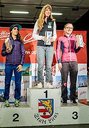 15.08.2016, Hauptplatz, Lienz, AUT, Free Solo Masters, im Bild v. l.: 2. Platz Fanny Gibert (FRA), Siegerin Karoline Sinnhuber (AUT) und 3. Platz Sabrina Schlager (AUT) // f. l.: 2nd Place Fanny Gibert (FRA), winner Karoline Sinnhuber (AUT) and 3rd place Sabrina Schlager (AUT) during the Free Solo Masters at the Hauptplatz in Lienz, Austria on 2016/08/15. EXPA Pictures © 2016, PhotoCredit: EXPA/ JFK