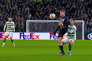 Pep Biel of FC Copenhagen takes the ball down during the Europa League match between Celtic and FC Copenhagen at Celtic Park, Glasgow, Scotland on 27 February 2020.