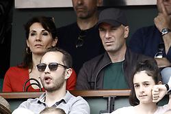 June 10, 2018 - Paris, Ile-de-France, France - Zinedine Zidane, his wife Veronique attend the Men Final of the 2018 French Open - Day Fithteen at Roland Garros on June 10, 2018 in Paris, France. (Credit Image: © Mehdi Taamallah/NurPhoto via ZUMA Press)
