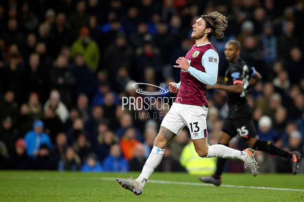 Burnley midfielder Jeff Hendrick (13) during the Premier League match between Burnley and Manchester City at Turf Moor, Burnley, England on 3 December 2019.
