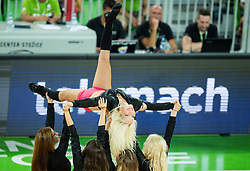 Cheerleaders Dragon Ladies perform during friendly basketball match between National teams of Slovenia and Australia, on August 4, 2015 in Arena Stozice, Ljubljana, Slovenia. Photo by Vid Ponikvar / Sportida