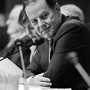 "Thomas ""Tom"" Kean at the 9/11 Commission's 9th Public Hearing, held in Washington DC. This was a special hearing to hear the testimony of National Security Adviser Condoleezza Rice."