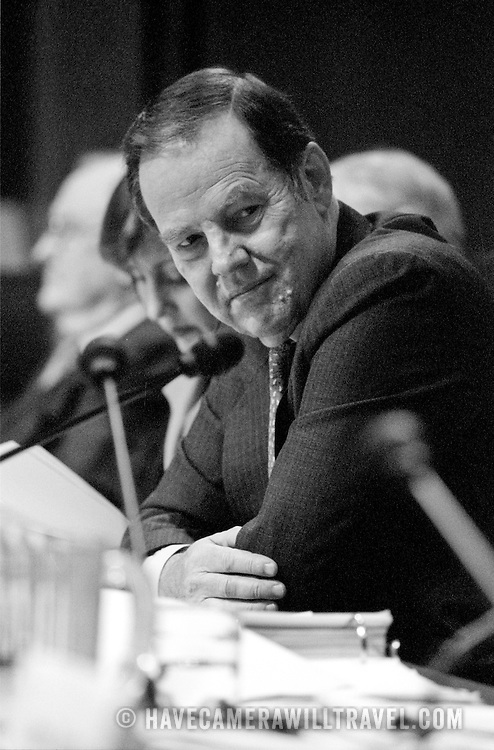 """Thomas """"Tom"""" Kean at the 9/11 Commission's 9th Public Hearing, held in Washington DC. This was a special hearing to hear the testimony of National Security Adviser Condoleezza Rice."""