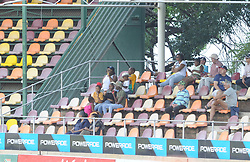Johannesburg 19-12-18. South Africa Invitation XI vs Pakistan. Pakistan open their tour of South Africa with a three-day match at Sahara Willowmoore Park, Benoni. Day 1, afternoon session. Cricket fans on one of the west stands, in the shade during a hot day in Benoni. Picture: Karen Sandison/African News Agency(ANA)