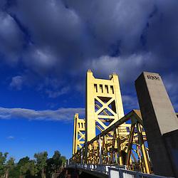 Vertical lift bridge in Sacramento, California