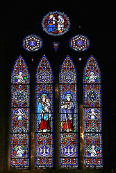 July 21, 2019 - Stained Glass Window In Killarney Cathedral, Co Kerry, Ireland (Credit Image: © Peter Zoeller/Design Pics via ZUMA Wire)