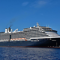 Holland America&rsquo;s Noordham Cruise Ship at Half Moon Cay, Bahamas<br /> The MS Noordham is one of 15 cruise ships operated by the Holland American Line.  The 1,924 passenger ship was launched in 2006.  Its namesake, the SS Noordam, first sailed in 1902 and ten years later it warned the Titanic of approaching icebergs. This Dutch line was called the Netherlands-American Steamship Company when it was formed in 1873. Today, it still flies Netherland&rsquo;s flag but its headquarters are in Seattle, Washington.  It is owned by the Carnival Corporation.