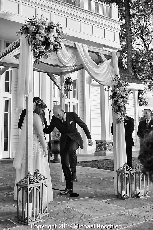 Whitehouse Station, NJ - November 04:  Wedding between Ally Hausner and Cesar Rainho at the Ryland Inn on November 04, 2017 in Whitehouse Station, NJ.  (Photo by Michael Bocchieri/Bocchieri Archive)