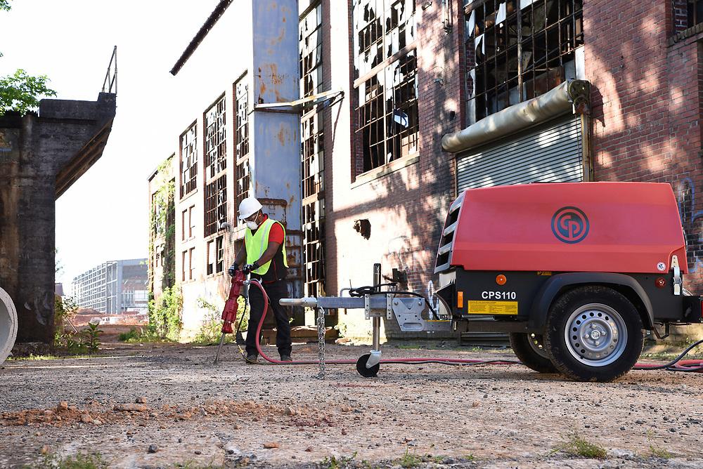 Chicago Pneumatic Compressor and tools.