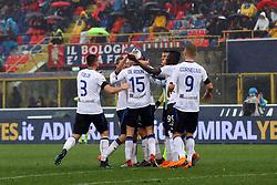 """Foto Filippo Rubin<br /> 11/03/2018 Bologna (Italia)<br /> Sport Calcio<br /> Bologna - Atalanta - Campionato di calcio Serie A 2017/2018 - Stadio """"Renato Dall'Ara""""<br /> Nella foto: GOAL ATALANTA MARTEN DE ROON (ATALANTA)<br /> <br /> Photo by Filippo Rubin<br /> March 11, 2018 Bologna (Italy)<br /> Sport Soccer<br /> Bologna vs Atalanta - Italian Football Championship League A 2017/2018 - """"Renato Dall'Ara"""" Stadium <br /> In the pic: GOAL ATALANTA MARTEN DE ROON (ATALANTA)"""