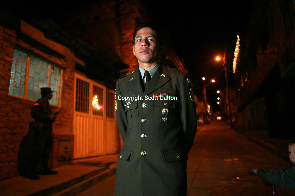 Police officer John Frank Pinchao stands outside of his south Bogotá home on Thursday, January 3, 2008. Pinchao spent over 8 years as a hostage of the FARC rebels deep in Colombia's jungles until he finally escaped earlier this year. (Photo/Scott Dalton)