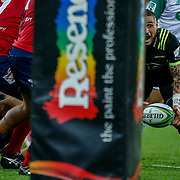 TJ Perenara (captain) during the Super rugby union game (Round 14) played between Hurricanes v Reds, on 18 May 2018, at Westpac Stadium, Wellington, New  Zealand.    Hurricanes won 38-34.