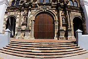 Metropolitan Cathedral entrance in San Felipe. Old Quarters, Panama City, Panama, Central America.