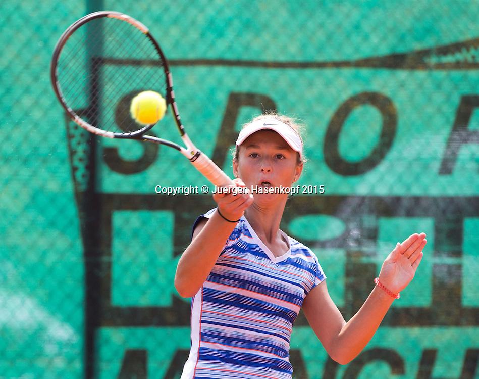 Luise Reisel (GER), GS14 Tennis Europe-M&uuml;nchen Junior Open<br /> <br /> Tennis - Audi GW plus Zentrum M&uuml;nchen Junior Open 2015 - ITF Junior Tour -  SC Eching - Eching - Bayern - Germany  - 10 August 2015. <br /> &copy; Juergen Hasenkopf