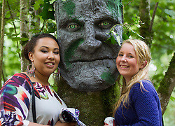 Repro Free: 30/10/2013 Miriam Bouse and Jessica Walsh from Carlow pictured in the forest on the opening day of Electric Picnic 2013. Picture Andres Poveda