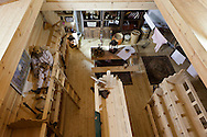 Interior of the Dutch Noah's Ark. // A full-sized replica of the biblical Noah's Ark has been built by a Dutch man, complete with model animals, and a four story theatre..Dutch creationist Johan Huibers built the ark as testament to his literal belief in the Bible. After three years of building the Ark should be finished in July. He expects to get around 400.000 visitors a year. Dordrecht, Mei 2011
