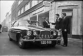 1963 -New Jaguar car at Joe Malones Self-drive.