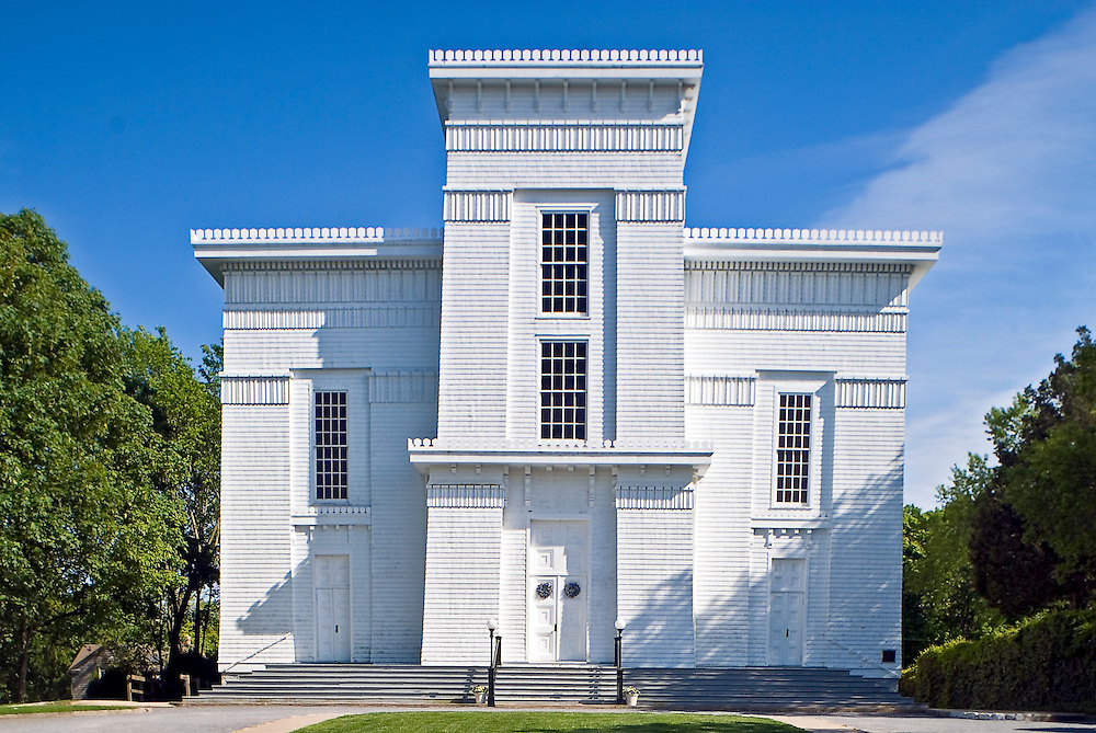 """First Presbyterian Church in Sag Harbor, New York, also known as Old Whaler's Church, is a historic and architecturally notable Presbyterian church built in 1844 in the Egyptian Revival style. The church is Sag Harbor's """"most distinguished landmark"""
