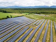 Solar panels in Sudbury, Vermont.