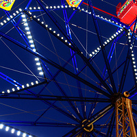 Newport Beach Ferris Wheel at the Balboa Fun Zone panorama photo. The Balboa Fun Zone Ferris Wheel is a popular attraction in Orange County Southern California. Panoramic photo ratio is 1:3. Copyright ⓒ 2017 Paul Velgos with All Rights Reserved.